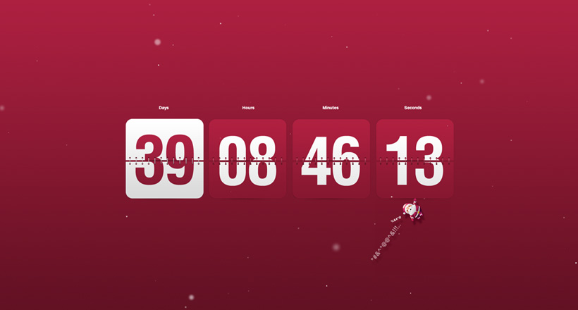 christmas clock countdown screensaver
