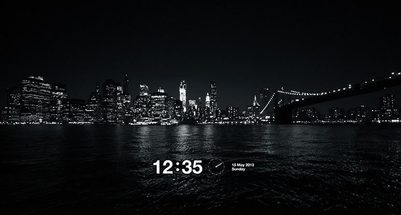 manhattan night screensaver